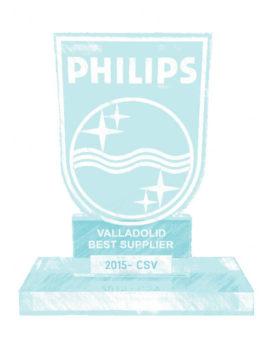 CSV Sistemas fábrica premiada Philips Valladolid Best Supplier 2015